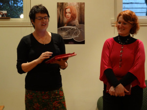 LIz Corbett launching Leisl Leighton's Killing Me Softly
